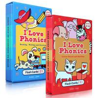 英文原版绘本I Love phonics L1-2 自然拼读幼儿启蒙认知学习字词卡闪卡英语0-2-3-4-5岁玩具亲子