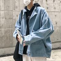 2018春装男士牛仔外套夹克上衣水洗复古做旧韩版纯色宽松春秋男装