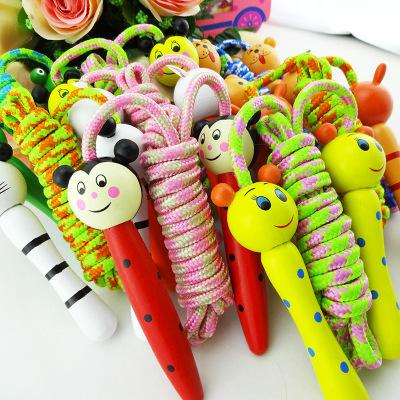 儿童跳绳 幼儿园小学生 体育运动比赛健身绳子 初学木质小孩玩具