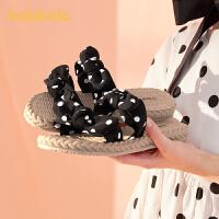 巴拉巴拉官方童鞋儿童拖鞋女小孩凉拖甜美可爱精致萌2021新款夏季