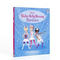 贴纸多莉打扮的流行歌手 Sticker Dolly Dressing Popstars英文原版贴纸书 3-5岁宝宝低幼启
