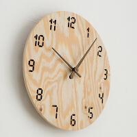 钟表挂钟客厅现代时钟简约家用卧室静音田园挂表