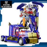 机器人模型手动变形儿童男孩礼物变形玩具金刚5 大黄蜂汽车