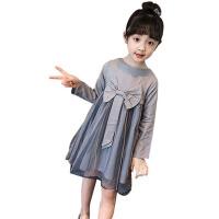 女童连衣裙春装新款儿童新年装洋气纱裙公主裙小女孩长袖裙子