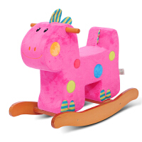 儿童座椅儿童木马摇摇马方块恐龙宝宝礼物 婴儿玩具