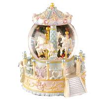 音乐盒 水晶球音乐盒八音盒旋转木马天空之城创意水晶球音乐盒礼物送女友老婆