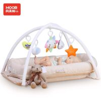 月亮船月亮船床中床BB床便携式婴儿床宝宝床新生儿床婴幼儿乳胶椰棕床垫