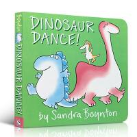 英文原版 Dinosaur Dance! 恐龙跳舞 Sandra Boynton 桑德拉・博因顿 低幼儿童单词汇启蒙绘本故事图画书 纸板书 撕不烂 1-2-3-4-5-6岁儿童 亲子互动英语绘本