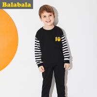 巴拉巴拉童装男童套装儿童两件套春秋2018新款小童宝宝衣服裤子潮