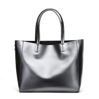 牛皮女包新品欧美时尚单肩手提包大容量女士购物包 Q