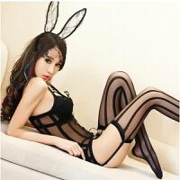 新睡衣内衣兔女郎极度诱惑套装制服真人性感骚连体丝袜蕾丝 均码