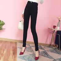 加绒打底裤女裤秋冬季新款黑色铅笔小脚长裤高腰外穿潮