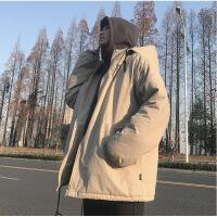 冬季中长款男士棉衣韩版潮流宽松外套嘻哈棉袄港风加厚面包服