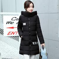 慈姑新款羽绒女士中长款韩版修身棉衣加厚学生棉袄外套潮 M 80-97斤