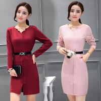 春秋新款连衣裙秋季韩版潮时尚气质修身长袖高贵30岁裙子女