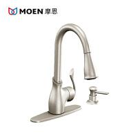 MOEN/摩恩 泊蒂高抛水嘴抽取式厨房龙头含皂液器 MCL87006SRS