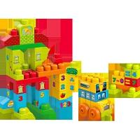 美高费雪大颗粒积木1-3岁宝宝启蒙认知积木玩具塑料拼插积木FMT40儿童节礼物
