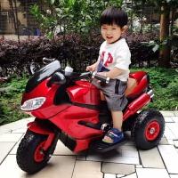 大型玩具车可坐人儿童电动摩托车三轮车1-3-6岁小孩玩具车可坐人宝宝充电遥控童车 版烤漆红早教灯光大电瓶 双驱动充气轮