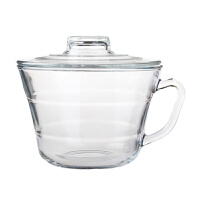 GLASSLOCK进口玻璃碗 微波饭盒 汤碗泡面碗带盖沙拉碗带把饭盒碗RG726