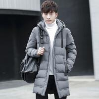 冬季男士棉衣韩版学生潮牌潮流中长款外套加厚加绒棉袄羽绒棉衣厚