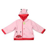 美国SKIP HOP儿童雨衣 可爱动物园系列宝宝雨衣 带帽加厚保暖