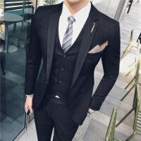 男士西装套装韩版修身一套英伦风青年帅气百搭新郎结婚西服男礼服
