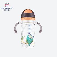 幼儿园带手柄儿童水杯 宝宝学饮杯吸管杯两用婴儿喝水