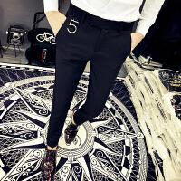 新款小码西裤发型师英伦简约小脚裤韩版修身显瘦27码26男士西装裤