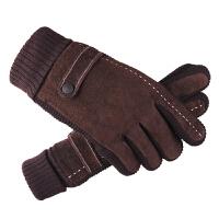 皮手套男冬保暖男士棉手套冬季手套骑车秋冬
