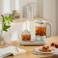 小熊(Bear)养生壶 养生杯 多功能小型迷你家用煮茶器电热茶壶 薄荷绿 YSH-C06N1