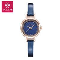 聚利时韩版新品石英女士皮表带镶钻精致防水时装手表