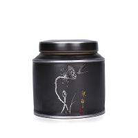 复古黑陶瓷茶叶罐高档大号存储密封罐红茶绿茶包装盒礼盒
