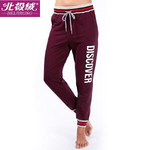 北极绒休闲裤运动裤女裤子学生卫裤宽松休闲小脚长裤