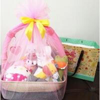 20180604025237595婴儿玩具礼盒新生儿礼盒男女宝宝玩具满月礼盒百天周岁音乐大礼篮 新生儿(0-3岁)