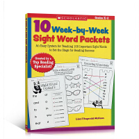 学乐读物 Scholastic 英文原版 10 Week-By-Week Sight Word Packets儿童学习