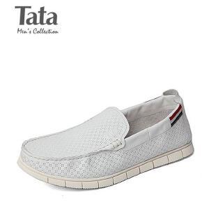 他她/Tata/他她春季专柜同款牛皮革男休闲鞋F6821AM 专柜1