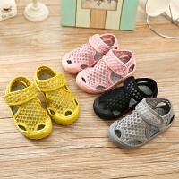 夏季儿童凉鞋透气软底宝宝网鞋男童女童小孩镂空沙滩鞋