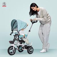 儿童三轮车脚踏车婴儿手推车1-5岁宝宝自行车座椅转向