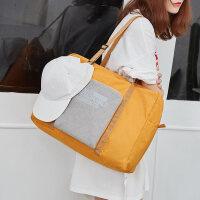 短途旅行包防水行李包便携可折叠可套拉杆手提行李袋大容量单肩包 大