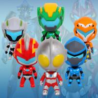 钢铁飞龙之奥特曼崛起力量Q版公仔变形人偶扭蛋儿童男孩玩具套装