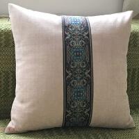 简约时尚欧式抱枕靠垫沙发客厅卧室现代中式靠枕靠包套红蓝色
