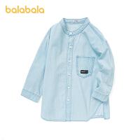 【2件7.5折:89.9】巴拉巴拉男童长袖衬衫中大童夏装童装牛仔上衣潮酷帅2021新款儿童