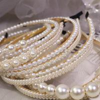 珍珠发箍少女百搭外出韩国简约气质名媛网红超仙发卡复古细款头箍
