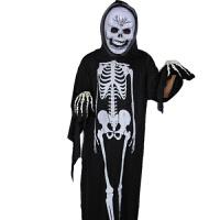 万圣节服装化妆舞会儿童衣服道具恐怖骷髅骨架鬼衣魔鬼面具 +男骷髅+骨手套