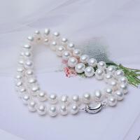 天然淡水珍珠项链女款 近圆强光大气 送妈妈款婆婆送长辈礼品