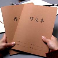 简约复古牛皮作文本 中小学生课堂方格日记本16k科目笔记本联系本