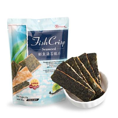 禾泱泱RIVSEA 鲜鱼海苔脆片 宝宝休闲零食酥脆非油炸营养丰富16g