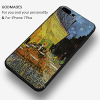 艺术油画苹果7plus手机壳个性创意iphone6男女款6s硅胶全包防摔6p