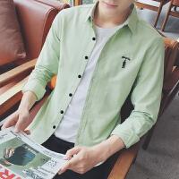 矮个子小码韩版潮流长袖衬衫帅衬衣S码XS男装男士寸衫
