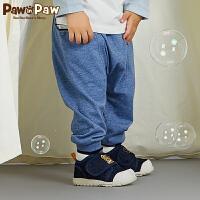 【3件4折 到手价:119】Pawinpaw卡通小熊童装18年新款秋男宝宝条纹口袋大pp小脚裤